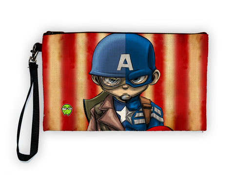 Captain America - Meents Illustrated Authentic Large Pencil/Device Bag