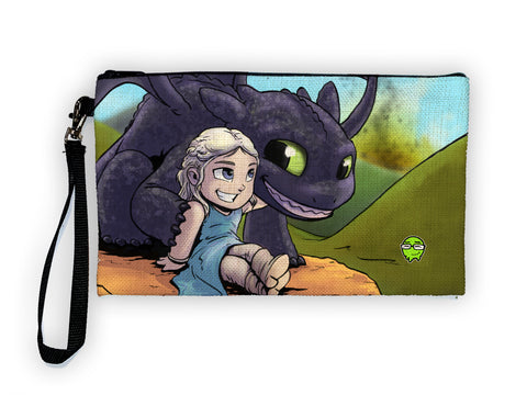 Dragon Mother - Meents Illustrated Authentic Large Pencil/Device Bag