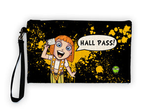 Hall Pass - Meents Illustrated Authentic Large Pencil/Device Bag