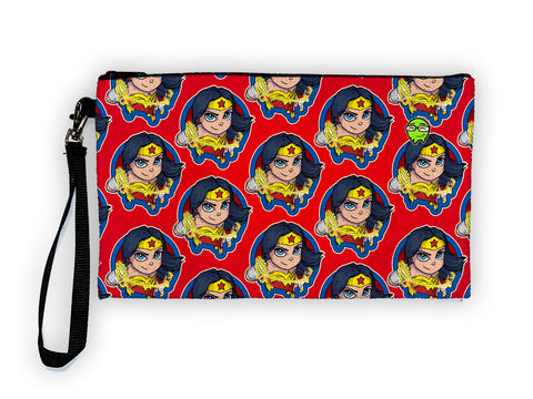 Wonder Woman Pattern - Meents Illustrated Authentic Large Pencil/Device Bag