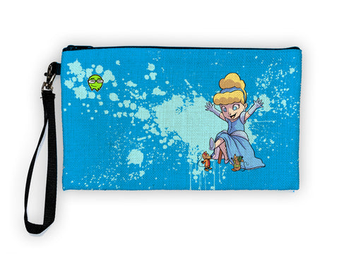 Cinderella - Meents Illustrated Authentic Large Pencil/Device Bag
