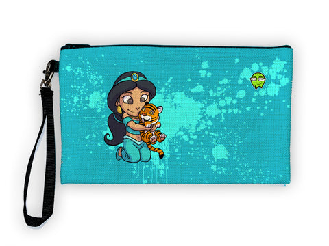 Jasmine - Meents Illustrated Authentic Large Pencil/Device Bag