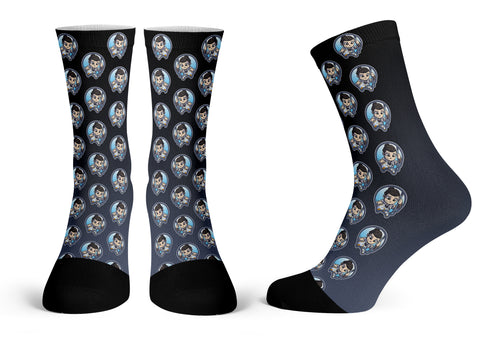 Rey Pattern - Streetwear Full Poly Crew Socks