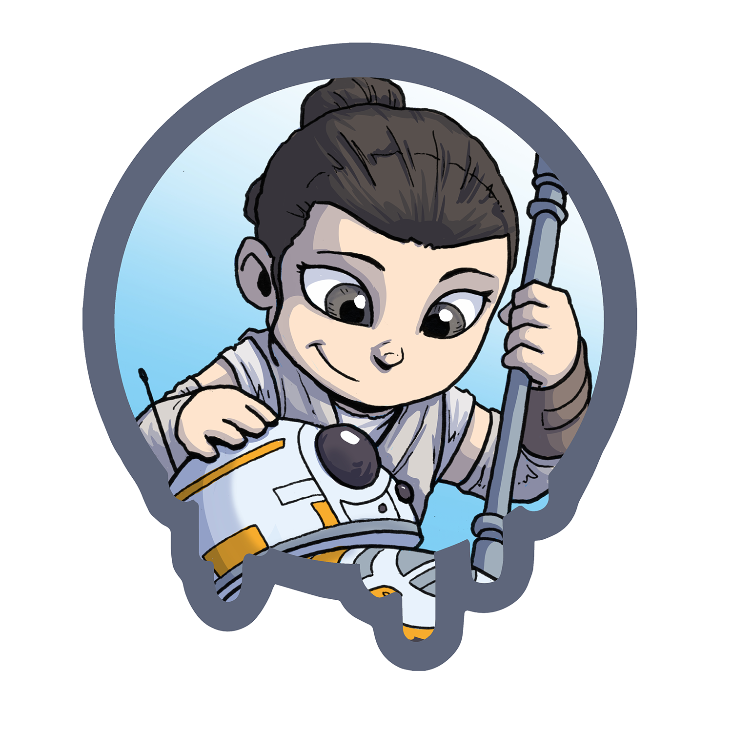 "Rey - Spotlight Series - Small 2"" Sticker"
