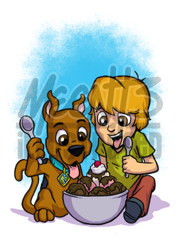 Shaggy & Scooby - 5x7 Mini Print