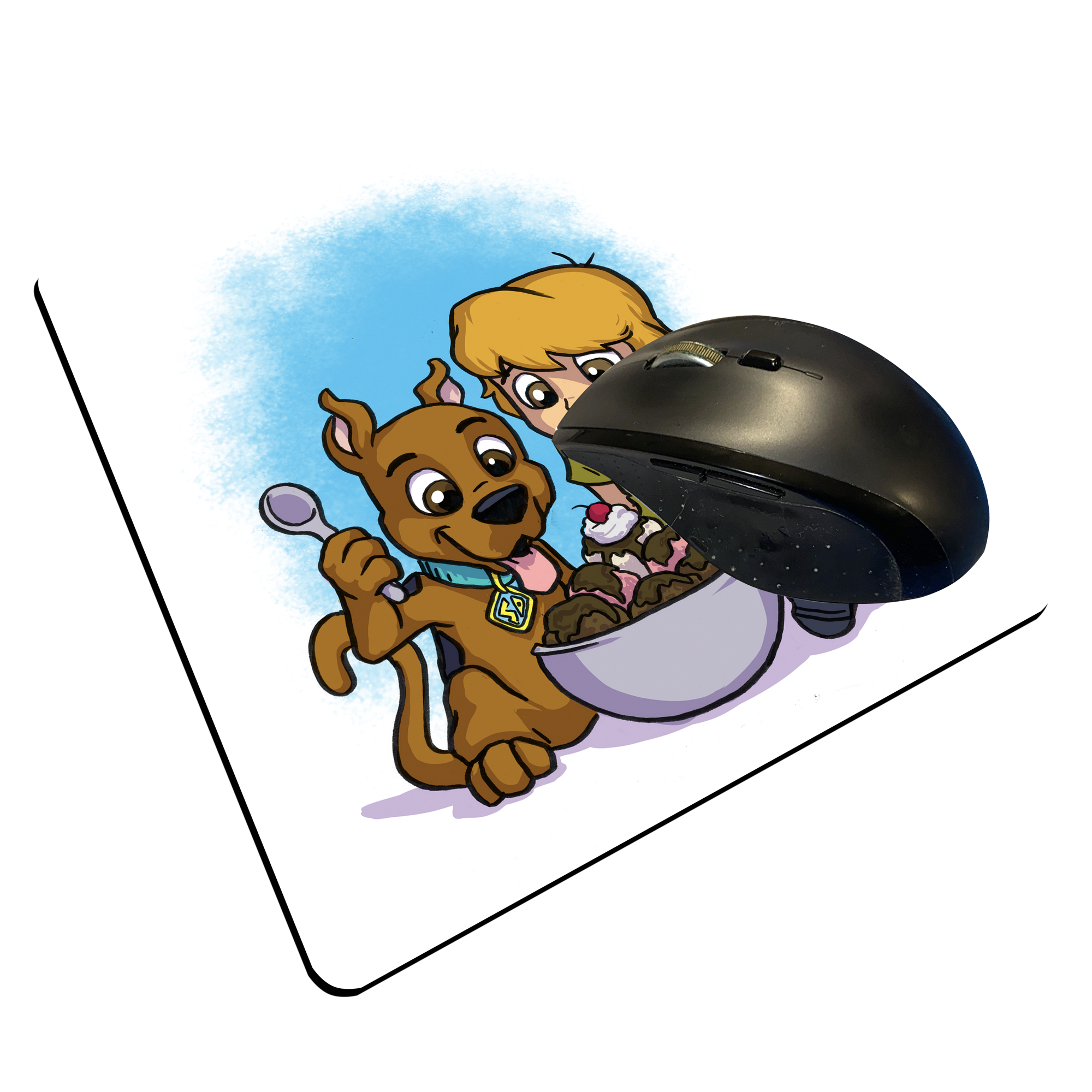 "Shag and Scooby - Custom ""Thin"" Mouse Pad"
