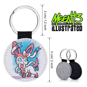 Sylvian - Character Art - PU Leather Keychain Round with Keyring