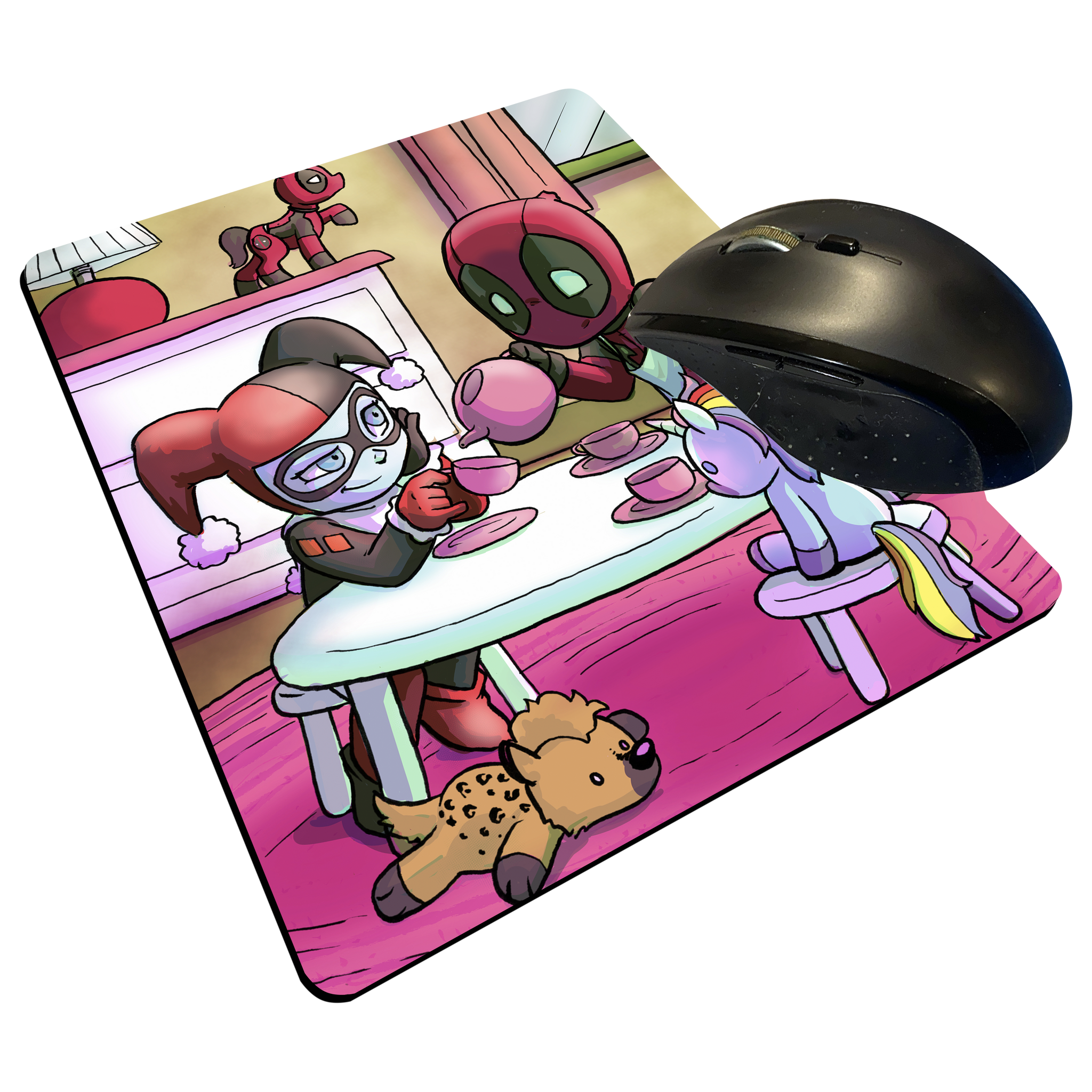 "Tea Party - Custom Graphic ""Thin"" Mouse Pad"