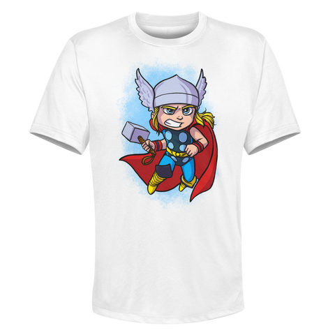 Thor - White Performance Graphic Tee