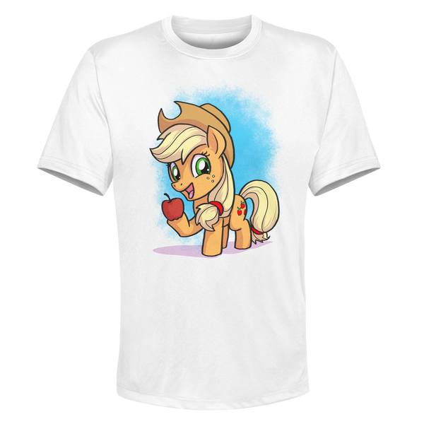 Applejack - White Performance Graphic Tee