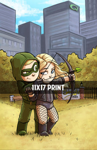 Arrow and Canary - 11x17 Print