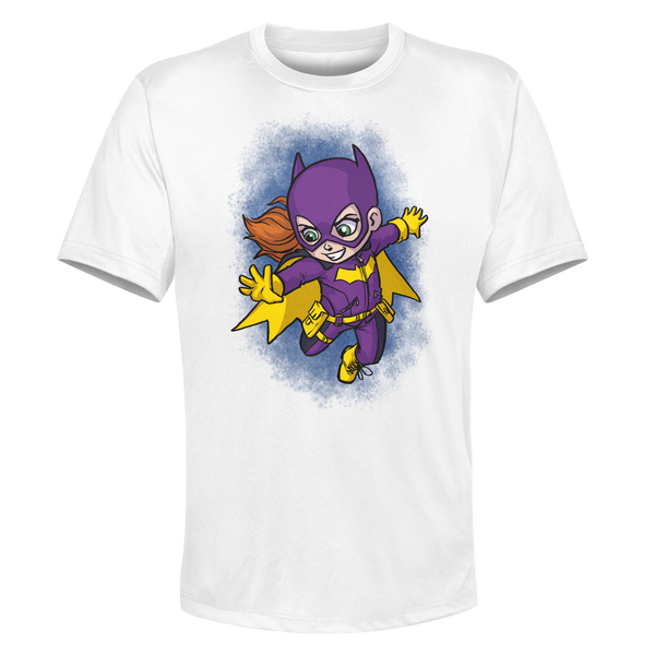 Batgirl- White Performance Graphic Tee