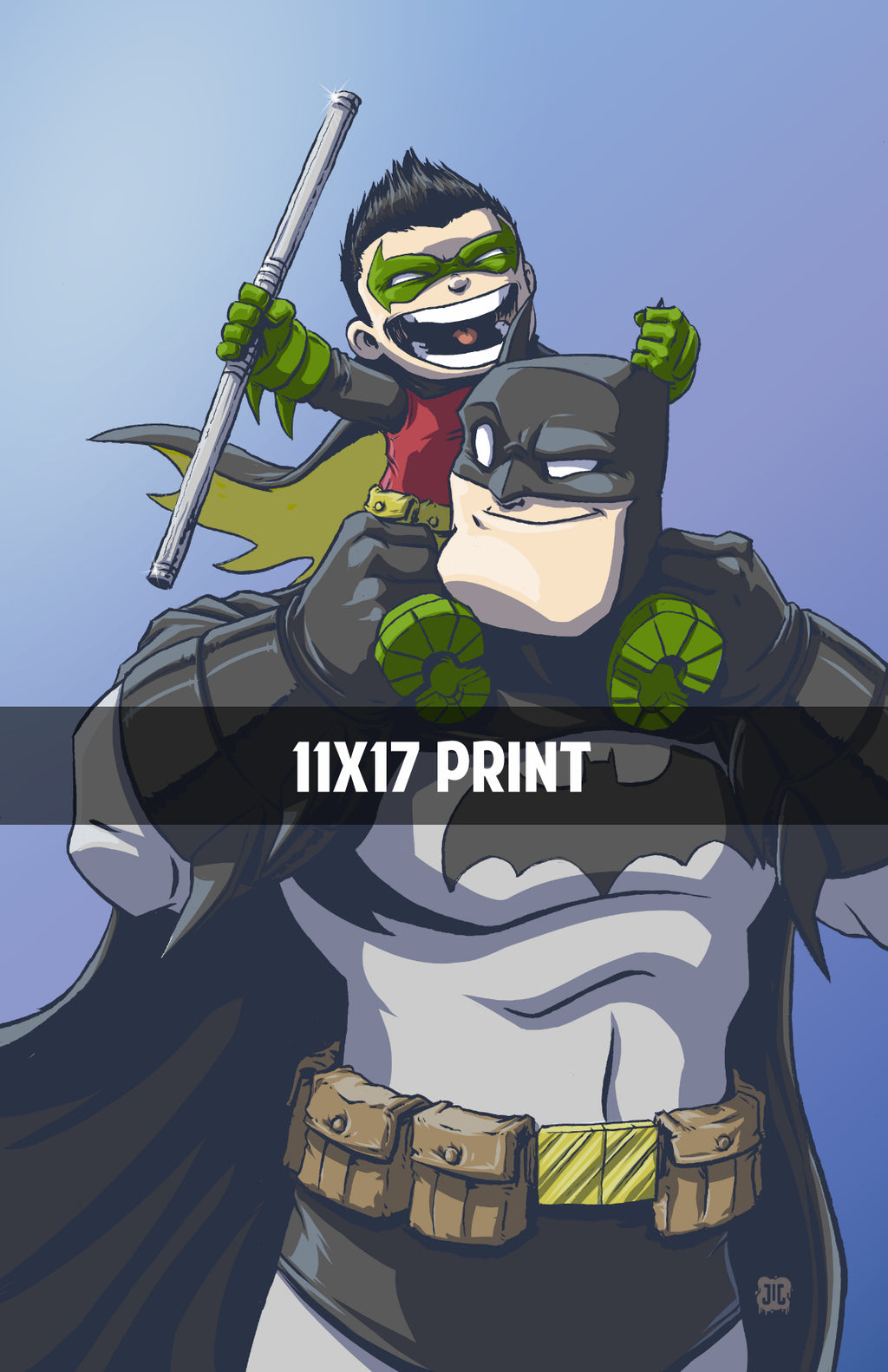 Batman and Robin - 11x17 Print