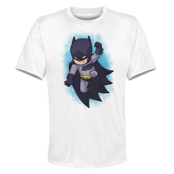Batman- White Performance Graphic Tee