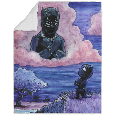 Black Panther Tribute - Graphic - 50x60 Sherpa Blanket