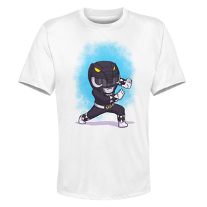 Black Ranger- White Performance Graphic Tee