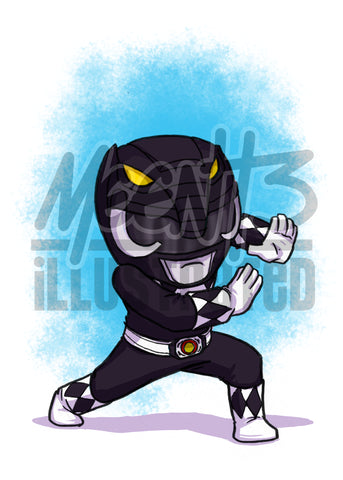 Black Ranger - 5x7 Mini Print