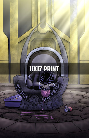 Black Panther Throne - 11x17 Print