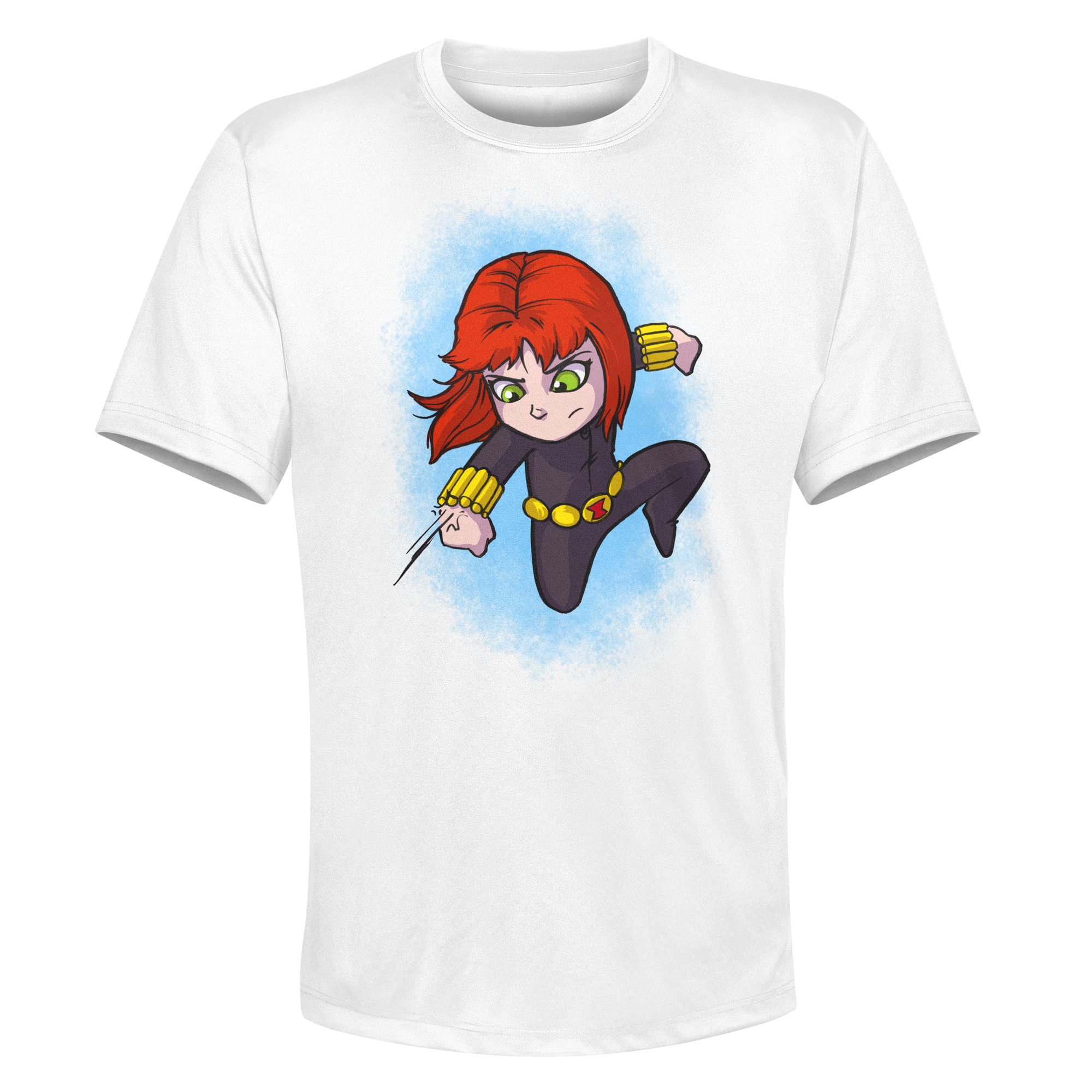 Black Widow- White Performance Graphic Tee