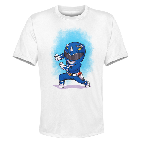 Blue Ranger - White Performance Graphic Tee
