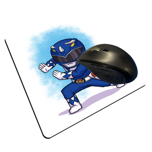 "Blue Ranger - Custom ""Thin"" Mouse Pad"