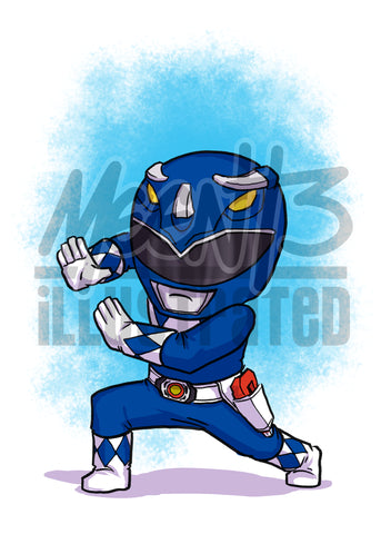 Blue Ranger - 5x7 Mini Print