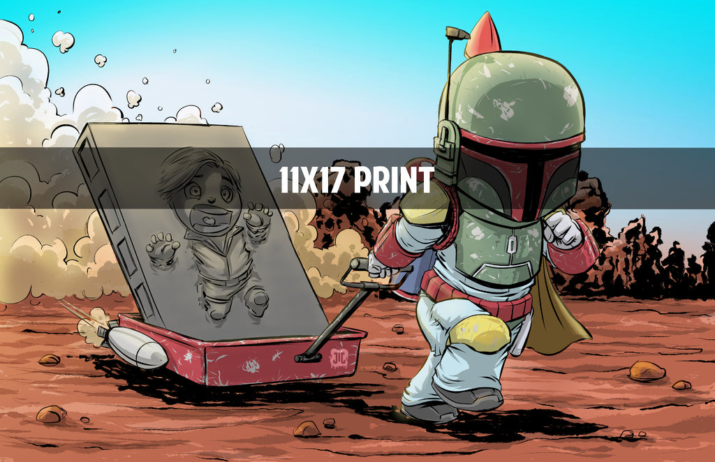 Boba and Han - 11x17 Print
