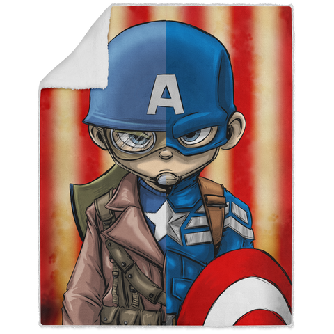 Captain America - Graphic - 50x60 Sherpa Blanket
