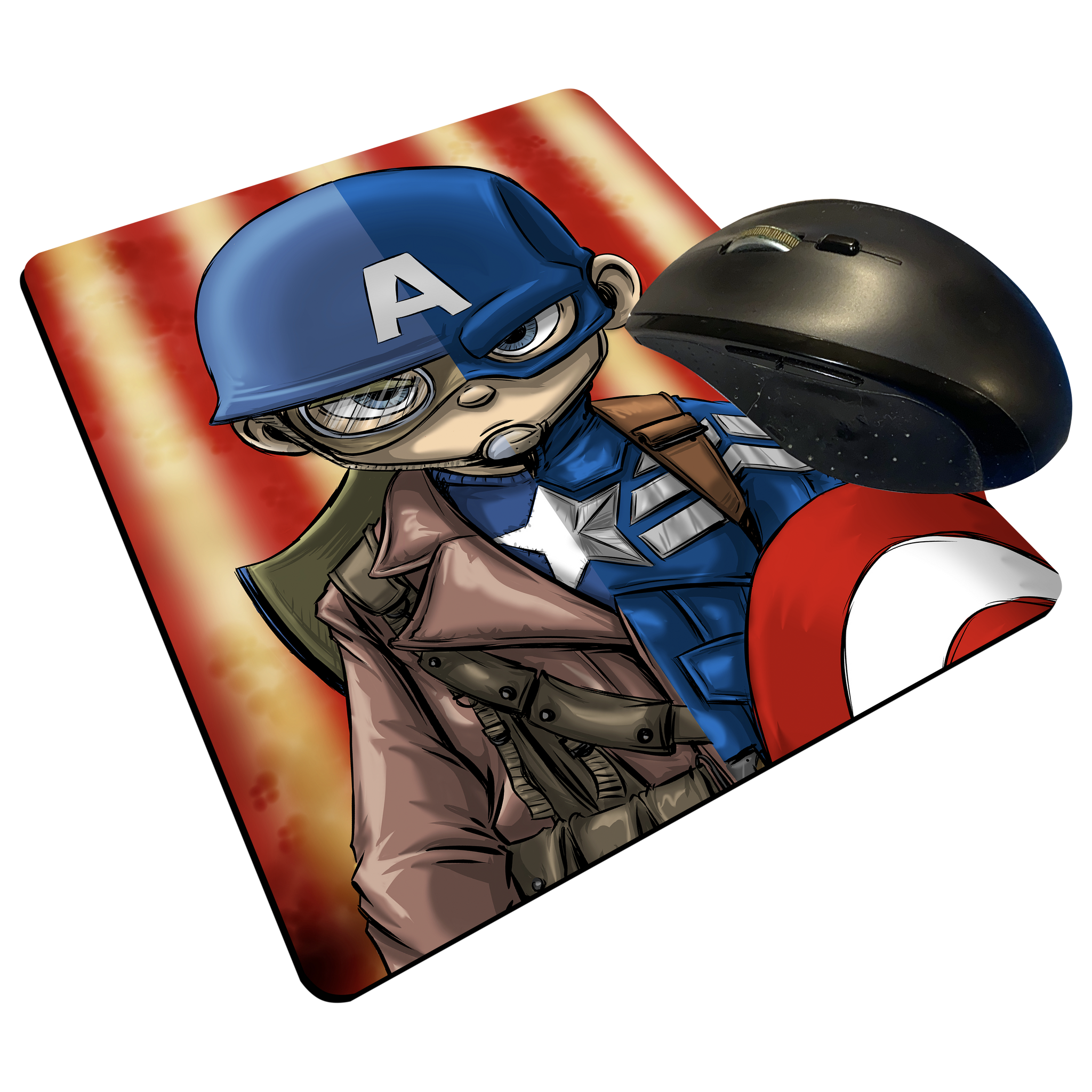 "Captain America - Custom Graphic ""Thin"" Mouse Pad"