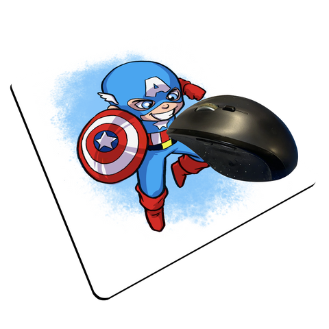 "Captain America - Custom ""Thin"" Mouse Pad"
