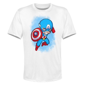 Captain America - White Performance Graphic Tee