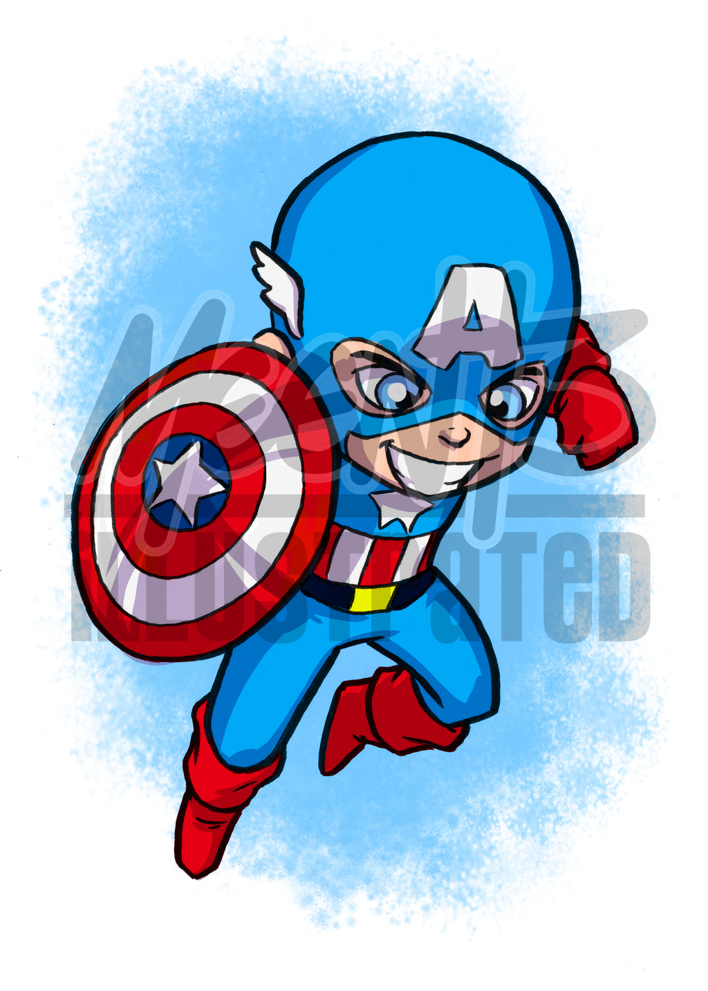 Captain America - 5x7 Mini Print
