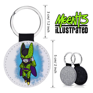 Cell - Character Art - PU Leather Keychain Round with Keyring