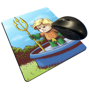 "Classic Aquaman - Custom Graphic ""Thin"" Mouse Pad"
