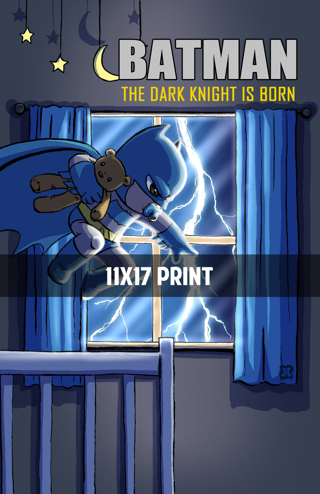 Dark Knight is Born - 11x17 Print