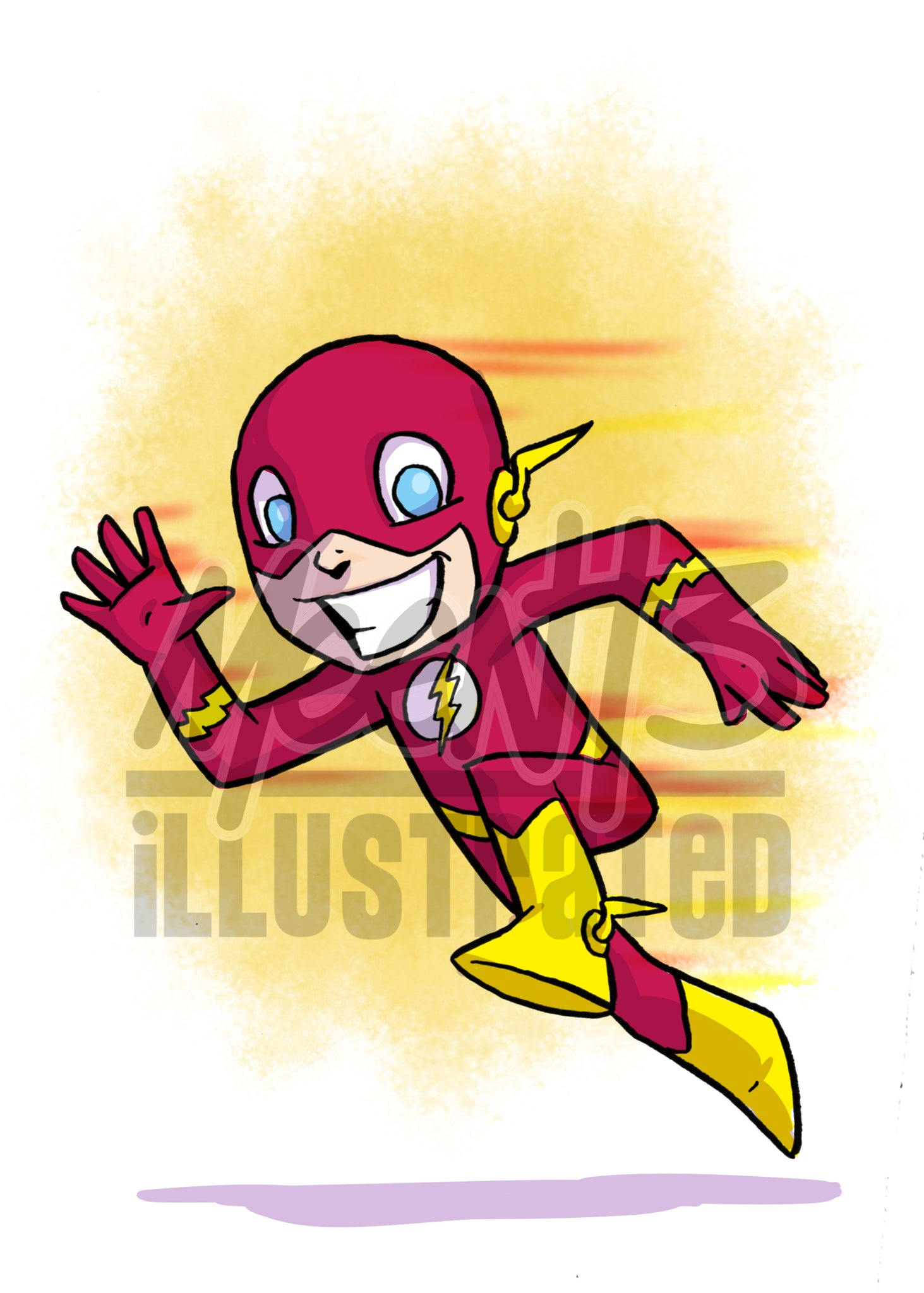 Flash - 5x7 Mini Print