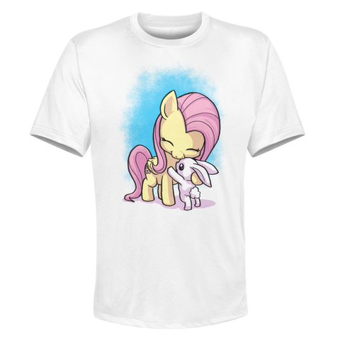 Fluttershy - White Performance Graphic Tee