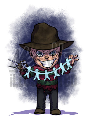 Freddy Krueger - 5x7 Mini Print