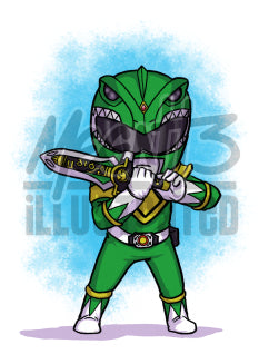 Green Ranger - 5x7 Mini Print