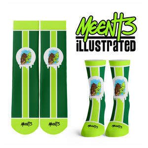Grinch - Character - Streetwear Full Poly Crew Socks