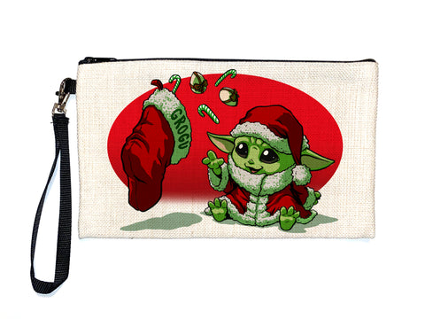 Grogu Christmas - Baby Yoda- Meents Illustrated Authentic Large Pencil/Device Bag