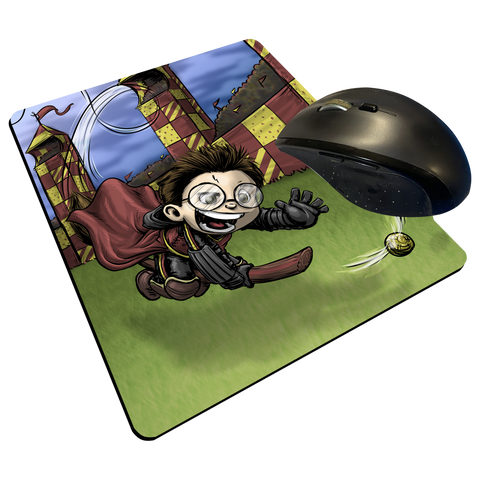 "Gryffindor Seeker - Custom Graphic ""Thin"" Mouse Pad"