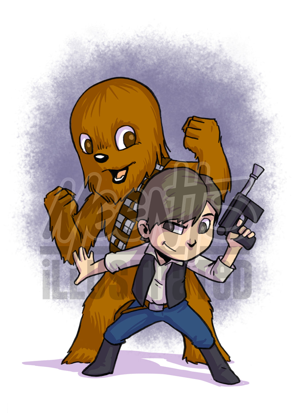 Han and Chewy - 5x7 Mini Print
