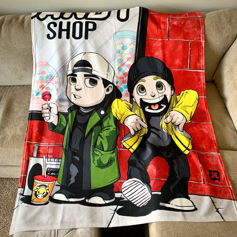 "Jay and Silent Bob 50""x60"" Polar fleece blanket"