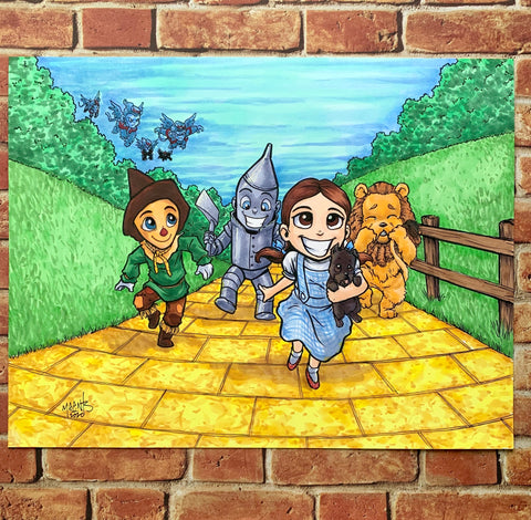 "Wizard of Oz 8.5x11"" Bristol Board Original"