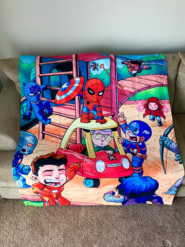 "Civil War with Stan Lee Cameo 50""x60"" Polar fleece blanket"