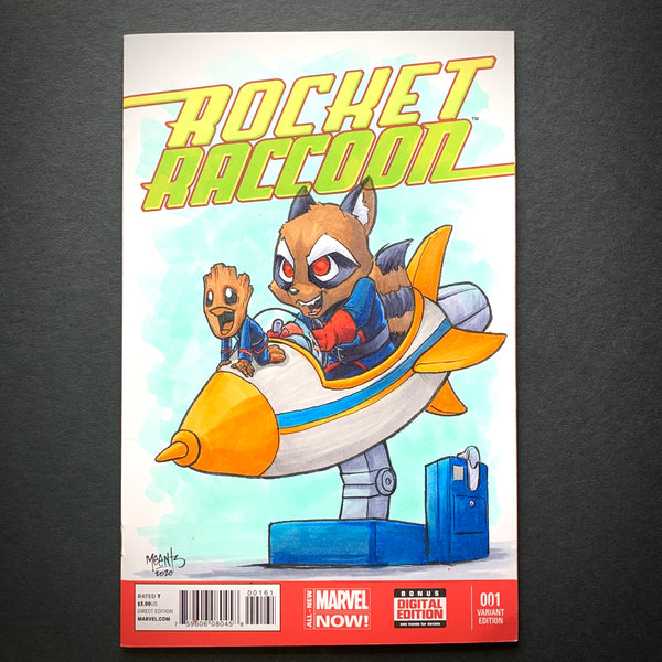 Rocket and Groot Original Comic Sketch Cover