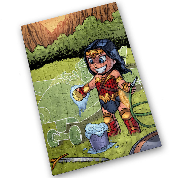 Invisible Jet - Wonder Woman - 120 Piece Jigsaw Puzzle
