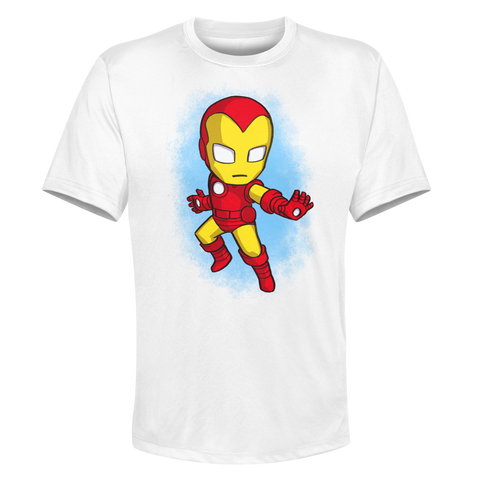 Ironman - White Performance Graphic Tee