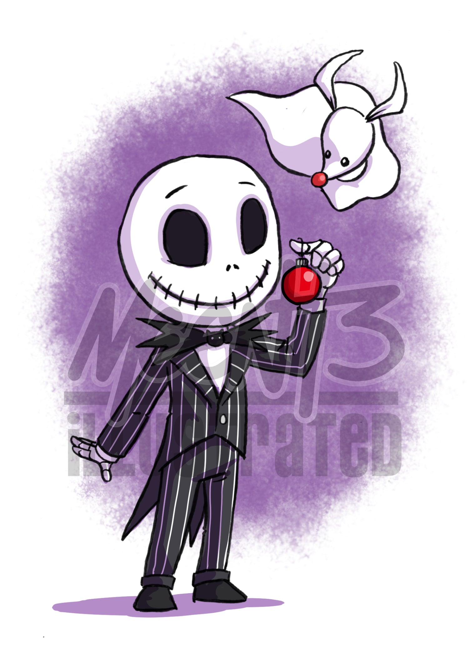Jack Skellington - 5x7 Mini Print